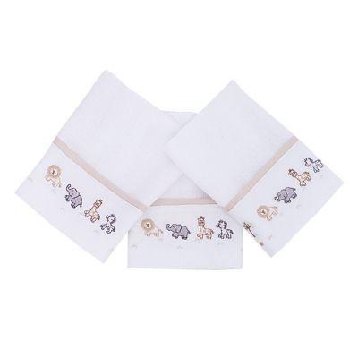 Toalha de boca kit com 3 peças - Branco