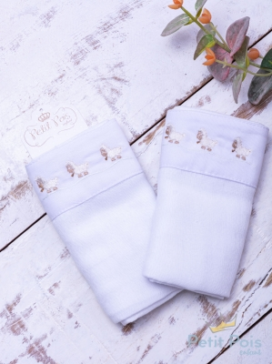 Toalha de ombro ovelha - Branco