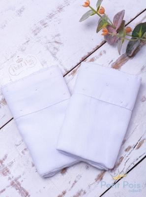 Toalha de ombro poás - Branco