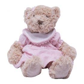 Ursinha de pelúcia - Bege e rosa