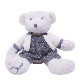 Ursinha de pelúcia - Branco e cinza