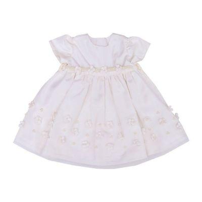 Vestido bebê bordado - Marfim