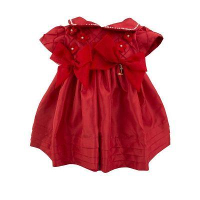 Vestido bebê bordado - Vermelho