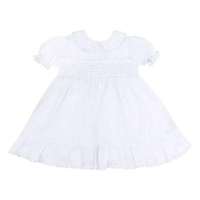 Vestido bebê com babados - Branco