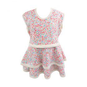 Vestido bebê coração - Marfim