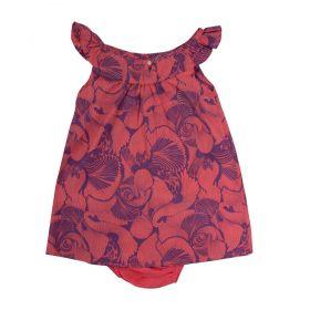 Vestido bebê - Coral
