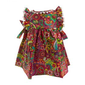 Vestido bebê estampado - Vermelho