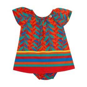 Vestido bebê - Laranja