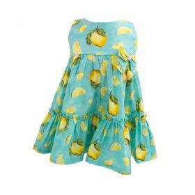 Vestido bebê limão - Verde água