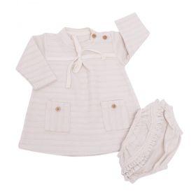 Vestido bebê - Marfim