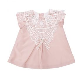Vestido bebê - Rosa seco