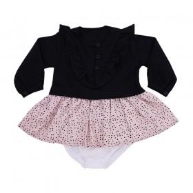Vestido bebê sweet - Preto