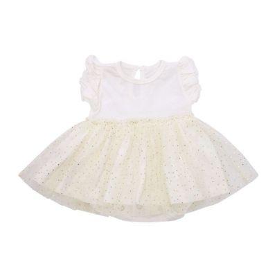 Vestido body bebê - Off white