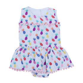 Vestido body bebê - Marfim