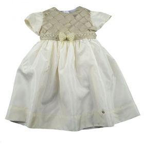 Vestido bordado - Marfim