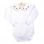 Body bebê flor - Branco e vermelho
