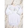 Body bebê gola em tule bordado - Branco