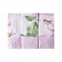 Kit toalha de boca com 3 peças floral - Rosa bebê