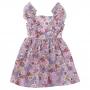 Vestido bebê floral - Marfim