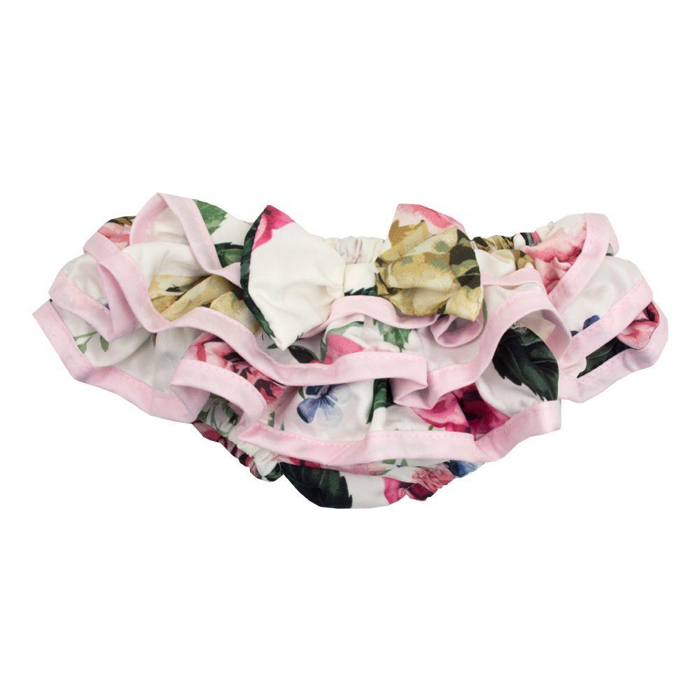 Banho de sol bebê floral - Rosa