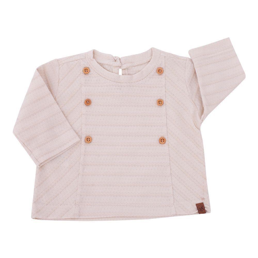 9e569c231 Blusa bebê com botões - Marfim Venha conhecer nossa produtos e ...