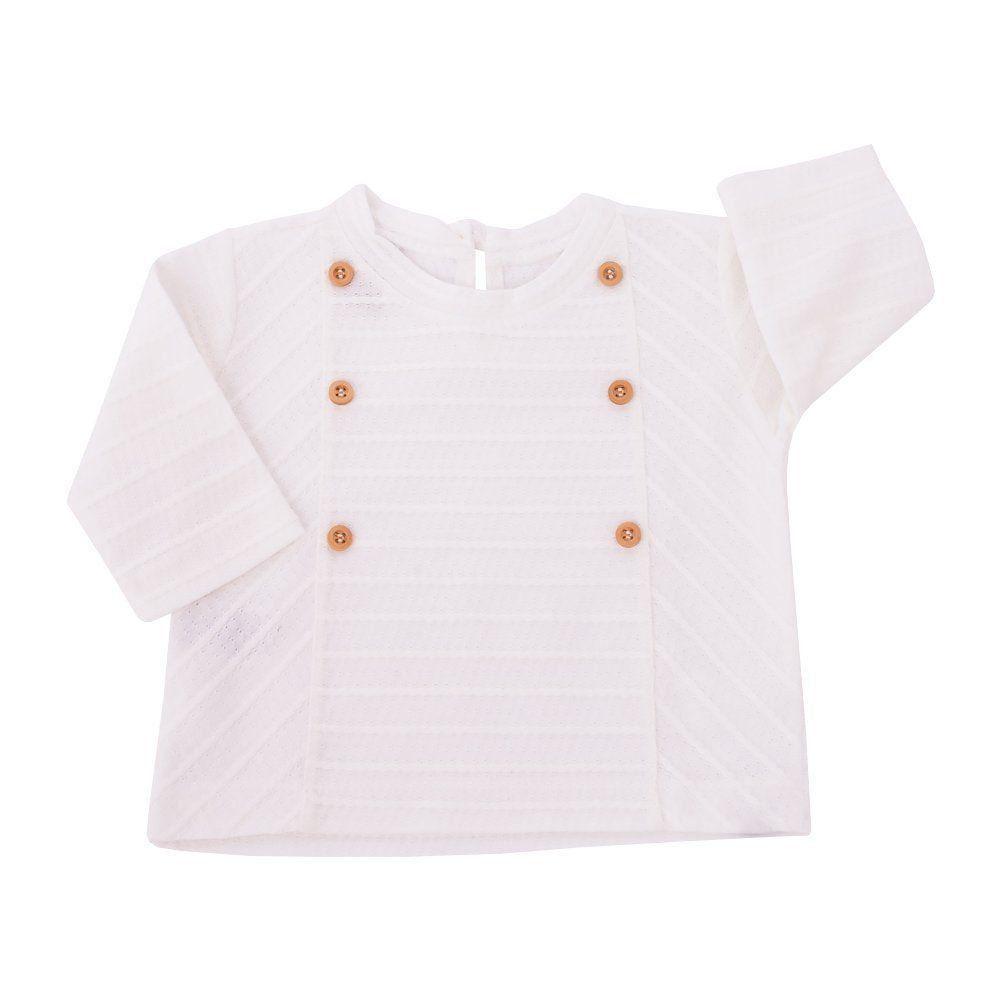 Blusa bebê com botões - Off white