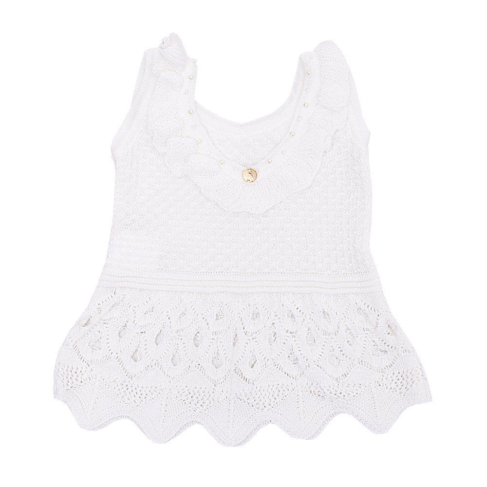 Blusa de bebê em linha - Branco