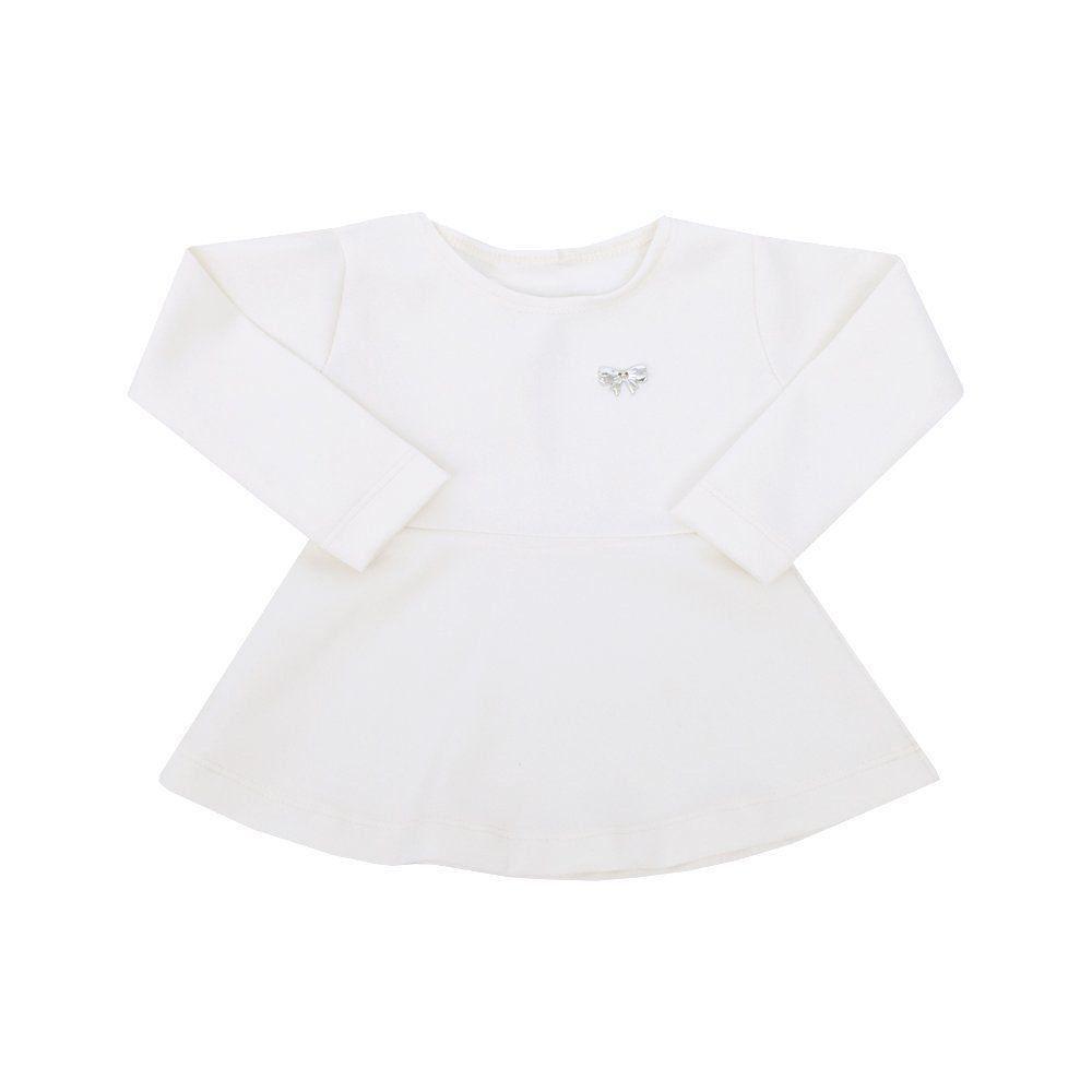 Blusa bebê peplum - Off white