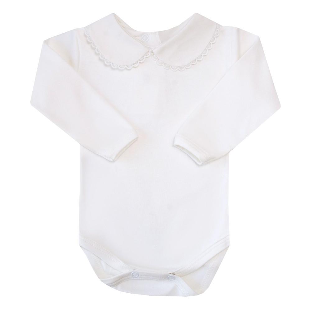 Body bebê com rendinha - Off white