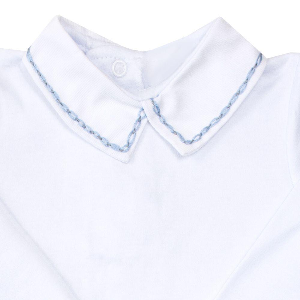 Body bebê corrente 2 cores - Branco e cinza