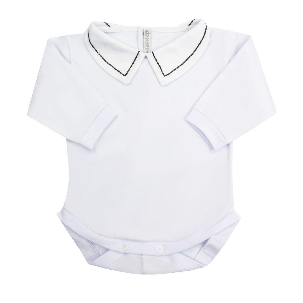 Body bebê corrente - Branco e preto