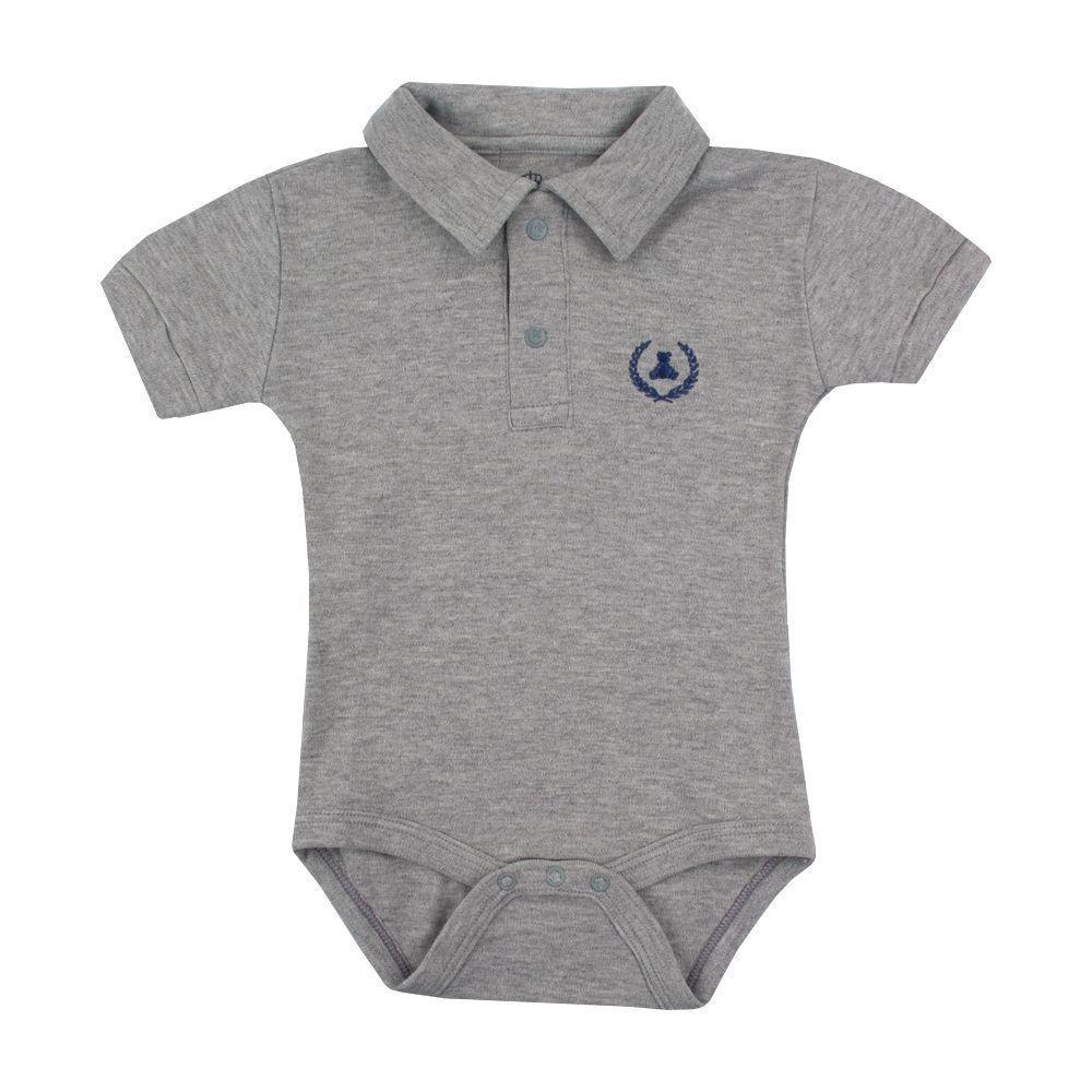 4dcf53b6e Body bebê gola polo - Cinza Venha conhecer nossa produtos e encante ...
