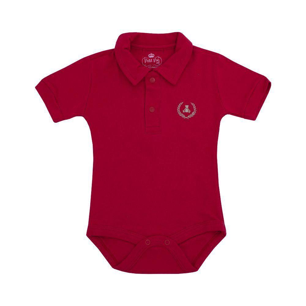 7bddbd802 Body bebê gola polo manga curta - Vermelho Venha conhecer nossa ...