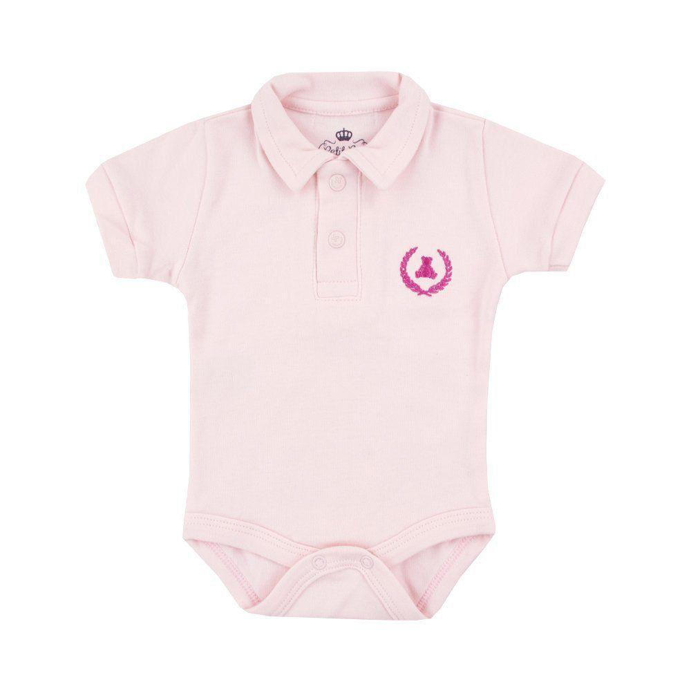 70c90a8a3 Body bebê gola polo - Rosa bebê Venha conhecer nossa produtos e ...