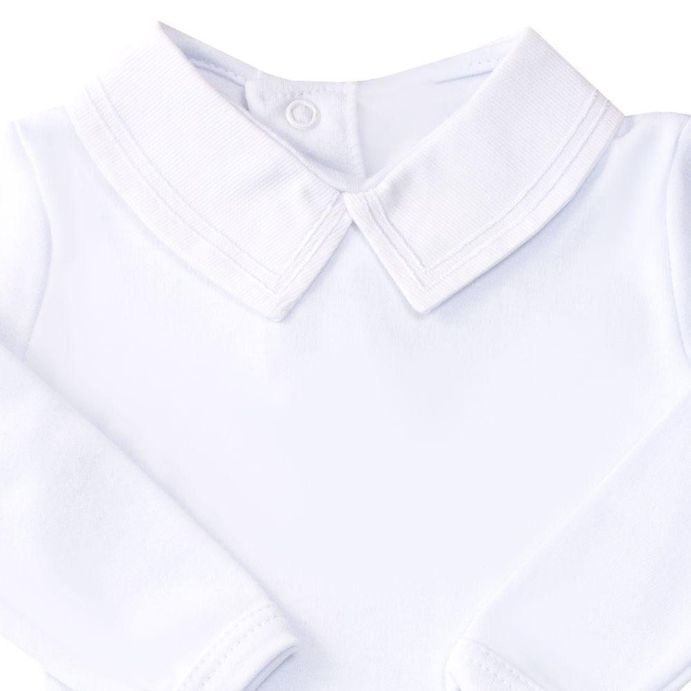 Body bebê linha dupla - Branco