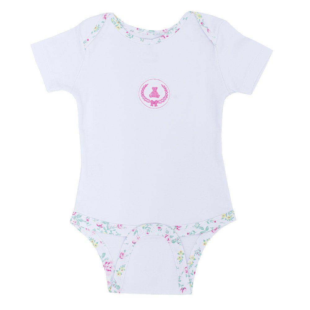 Body bebê manga curta - Branco