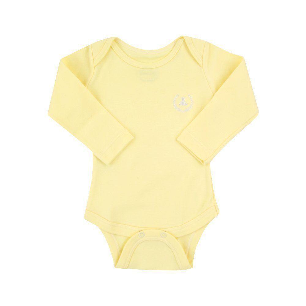 Body bebê manga longa - Amarelo