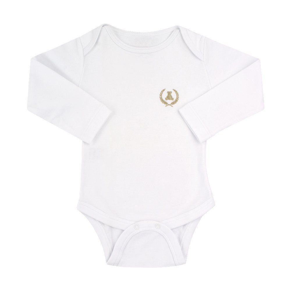 Body bebê manga longa - Branco