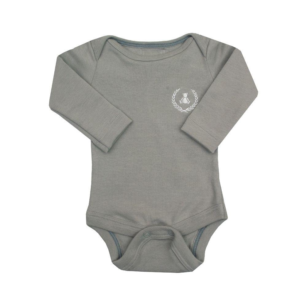 Body bebê manga longa - Cinza