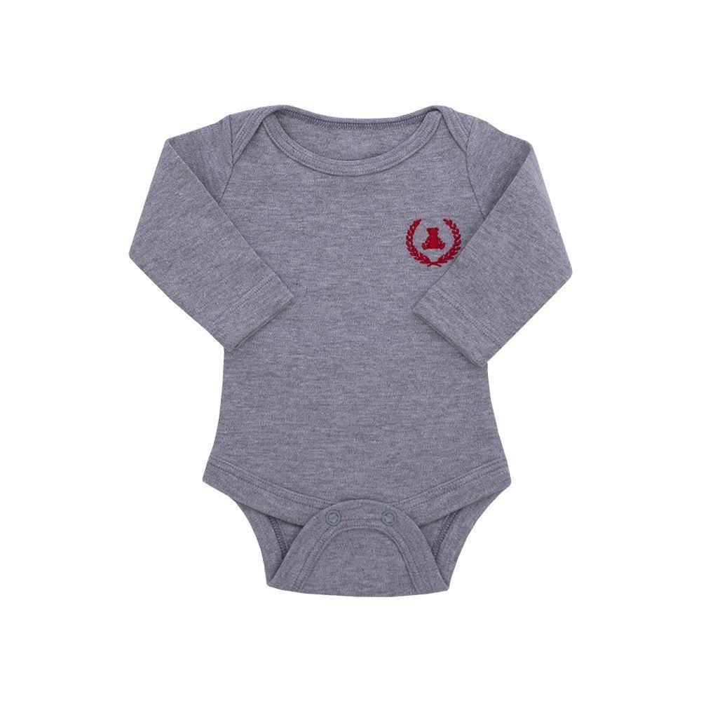 Body bebê manga longa - Mescla