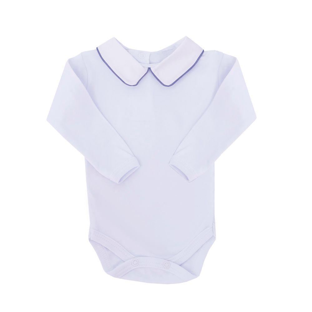 Body bebê masculino - Branco e jeans