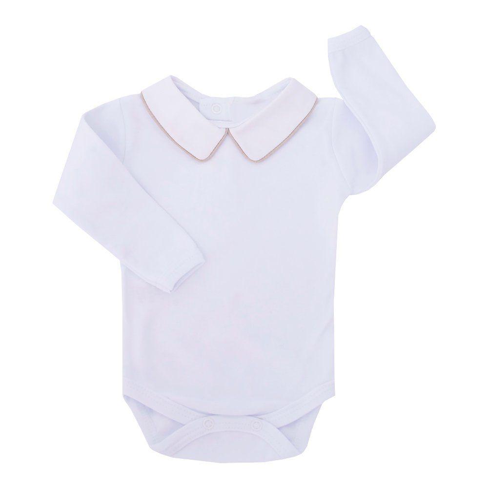 Body bebê masculino - Branco e rolex