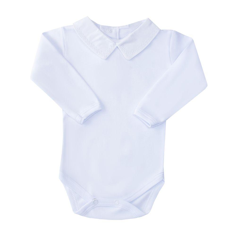 Body bebê quadradinho duplo - Branco