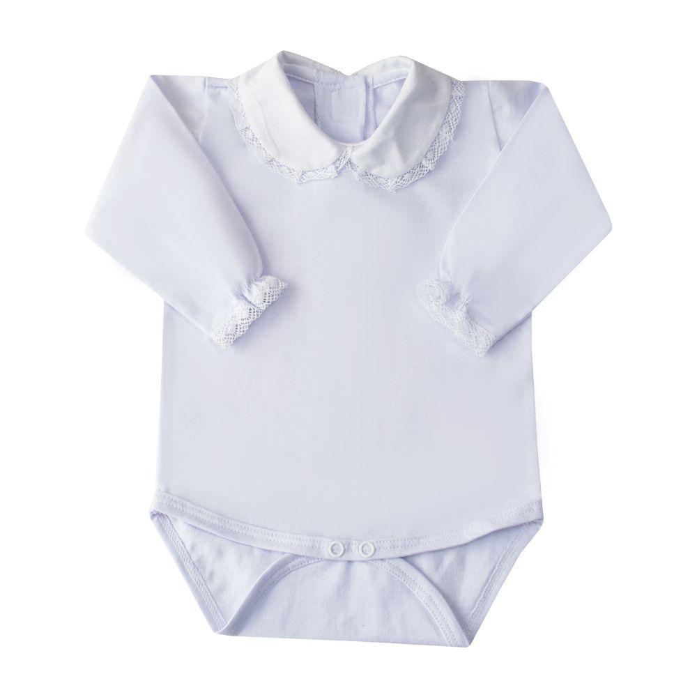 Body bebê rendinha - Branco