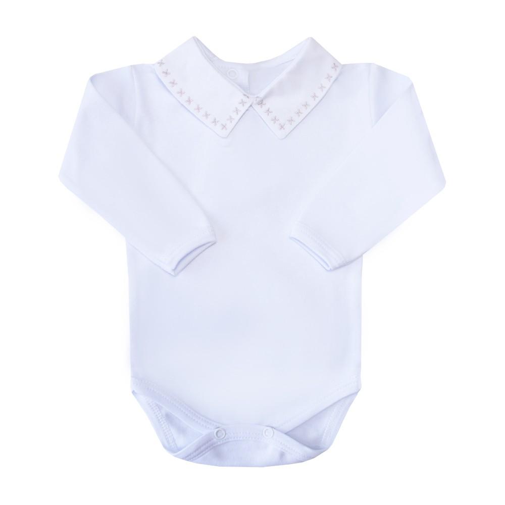 Body bebê X - Branco e rolex