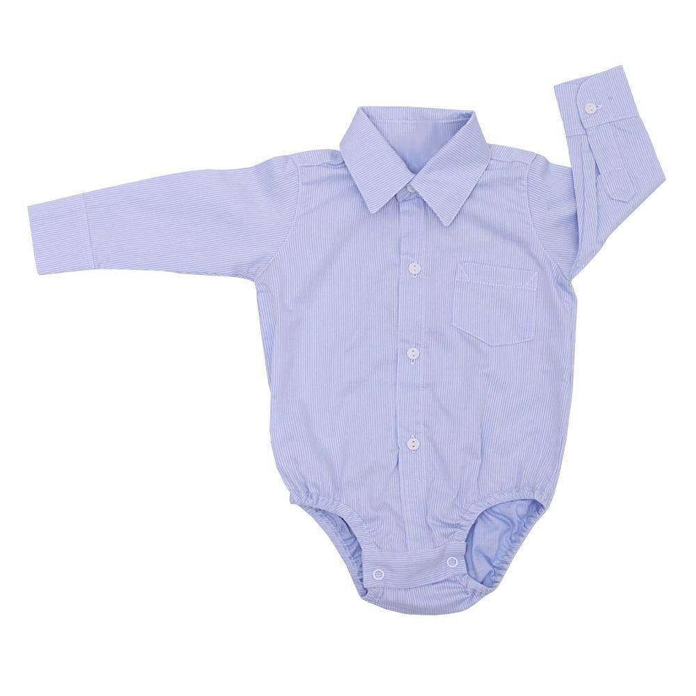 Body camisa bebê - Azul