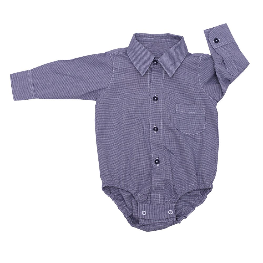 Body camisa bebê - Azul marinho