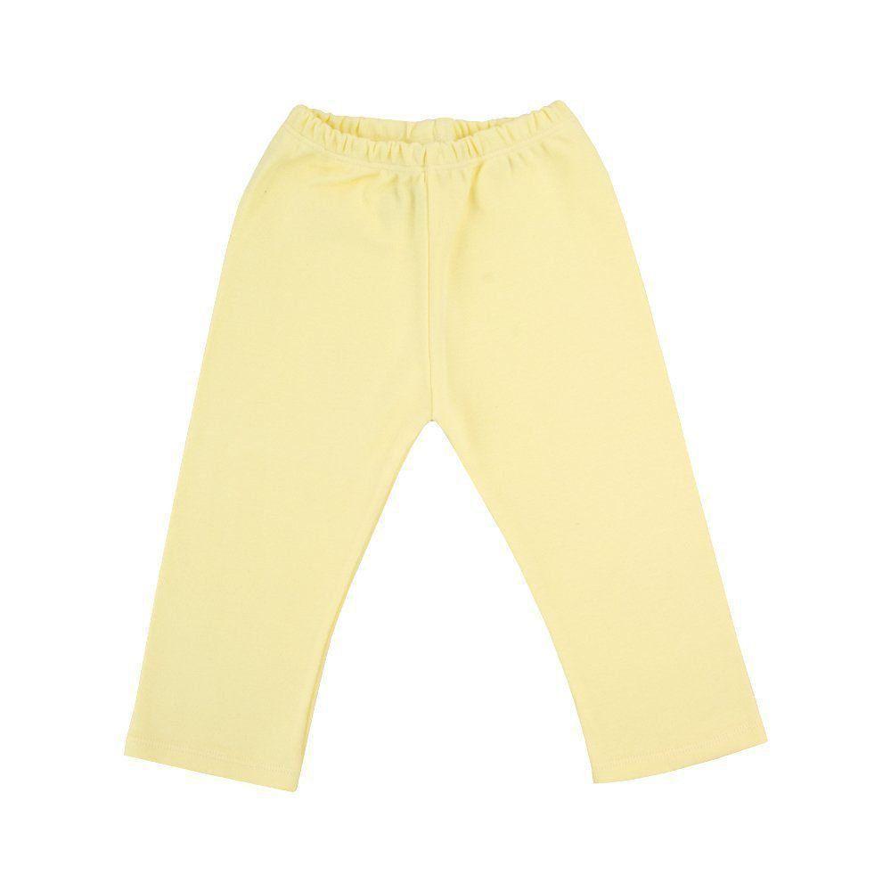Calça bebê sem pé - Amarelo