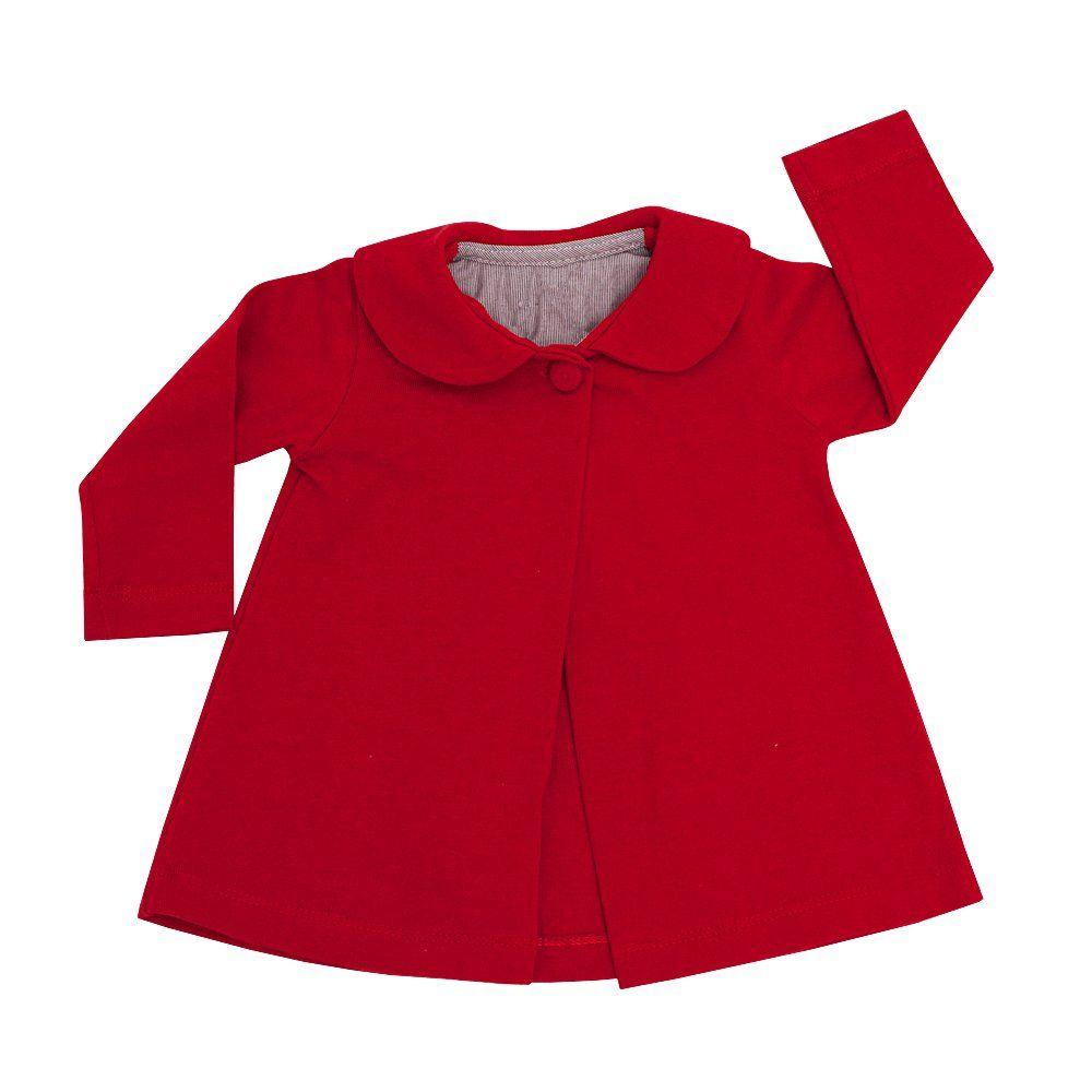 Casaco bebê - Vermelho