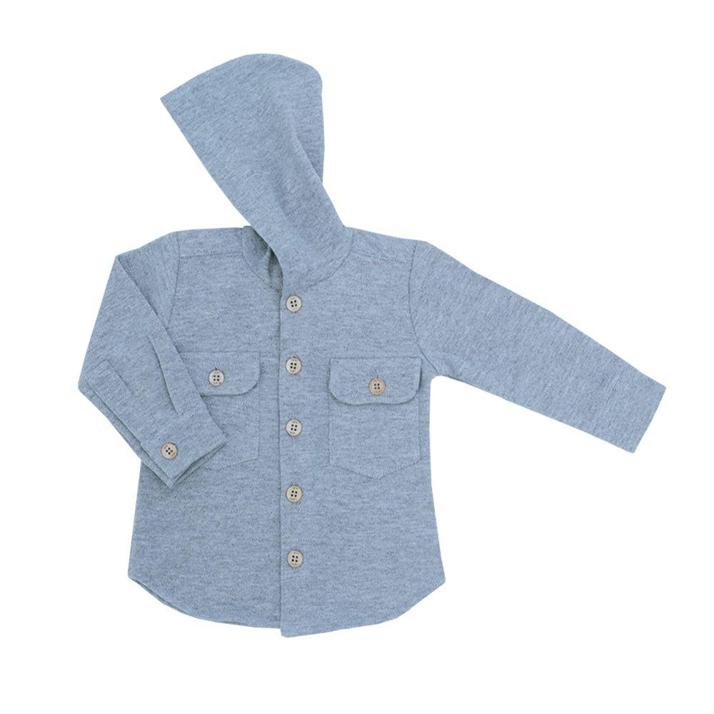 Camisa com capuz bebê - Cinza